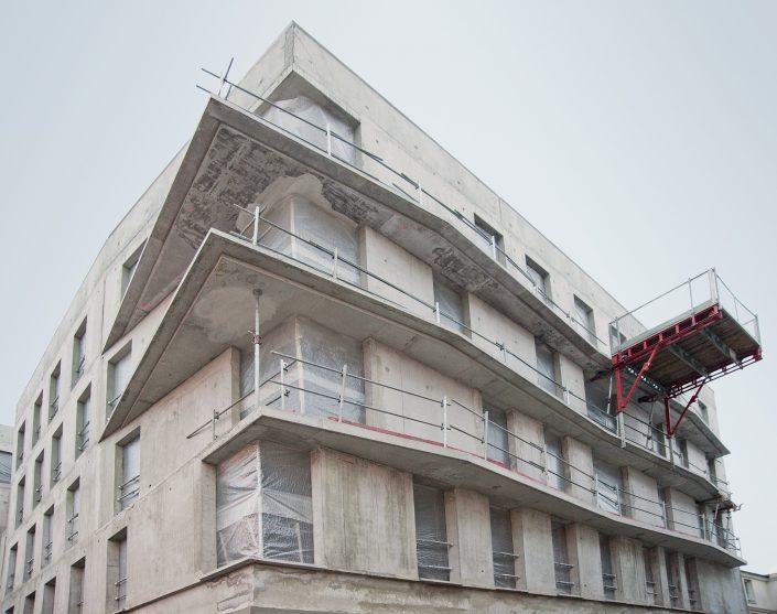 Cobat Constructions Chantier Bourg la Reine Facade Balcons
