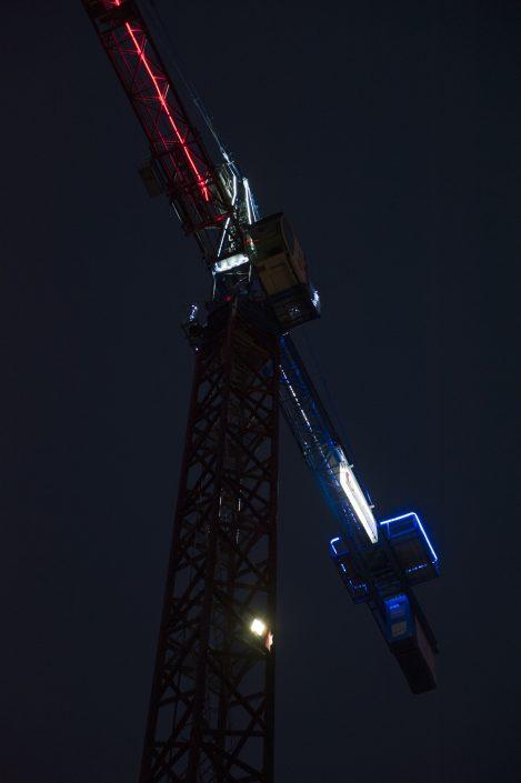 Cobat Constructions Chantier Bourg la Reine Grue de Nuit