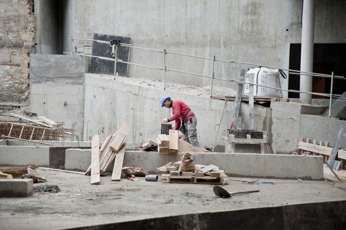 Cobat Constructions Chantier Bourg la Reine Ouvrier